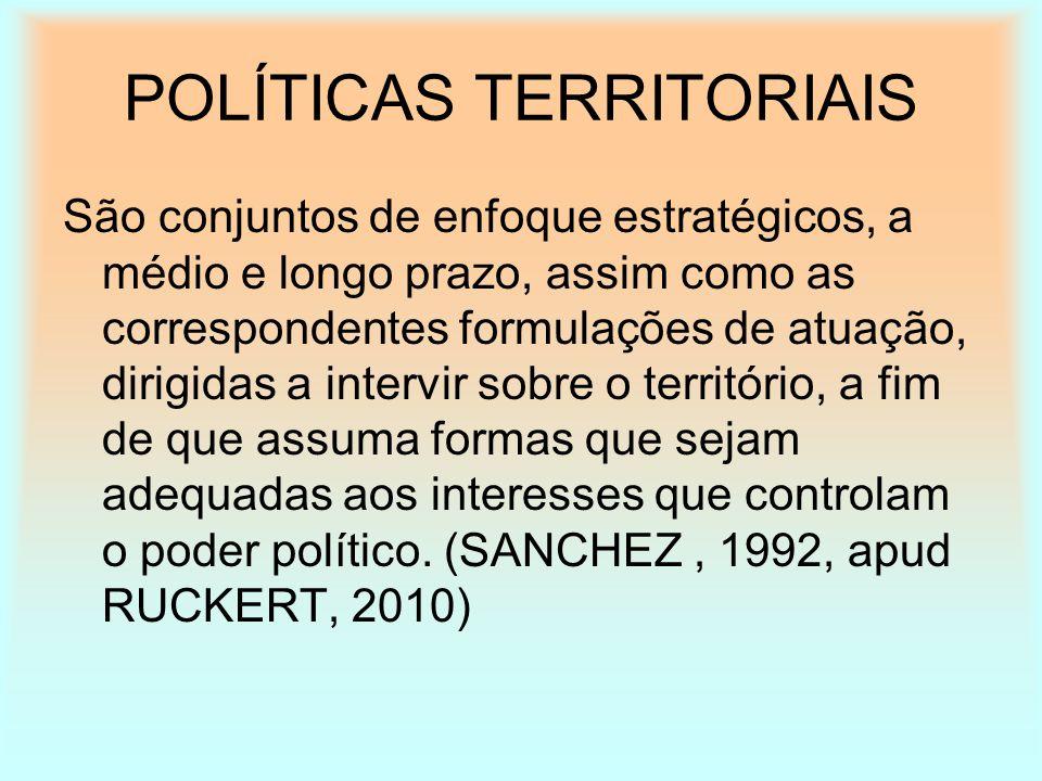 POLÍTICAS TERRITORIAIS