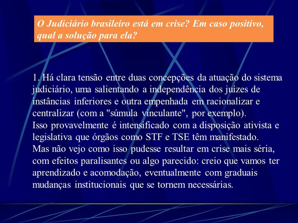 O Judiciário brasileiro está em crise