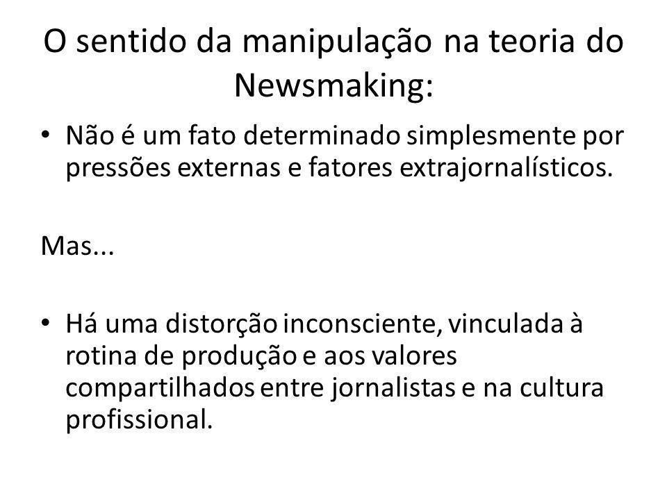 O sentido da manipulação na teoria do Newsmaking: