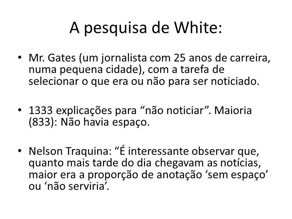 A pesquisa de White: