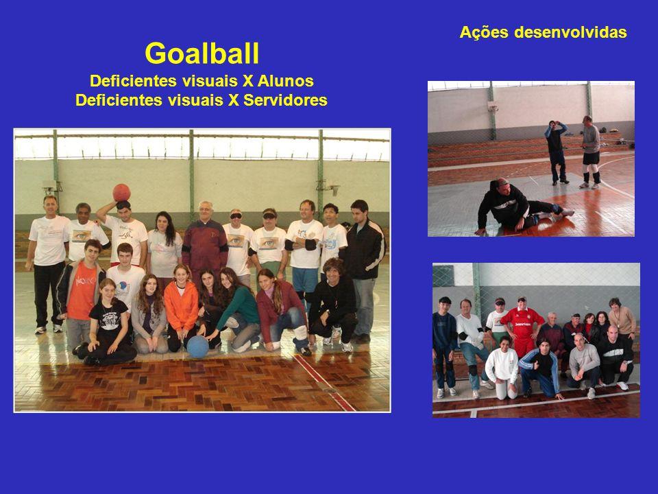 Goalball Deficientes visuais X Alunos Deficientes visuais X Servidores