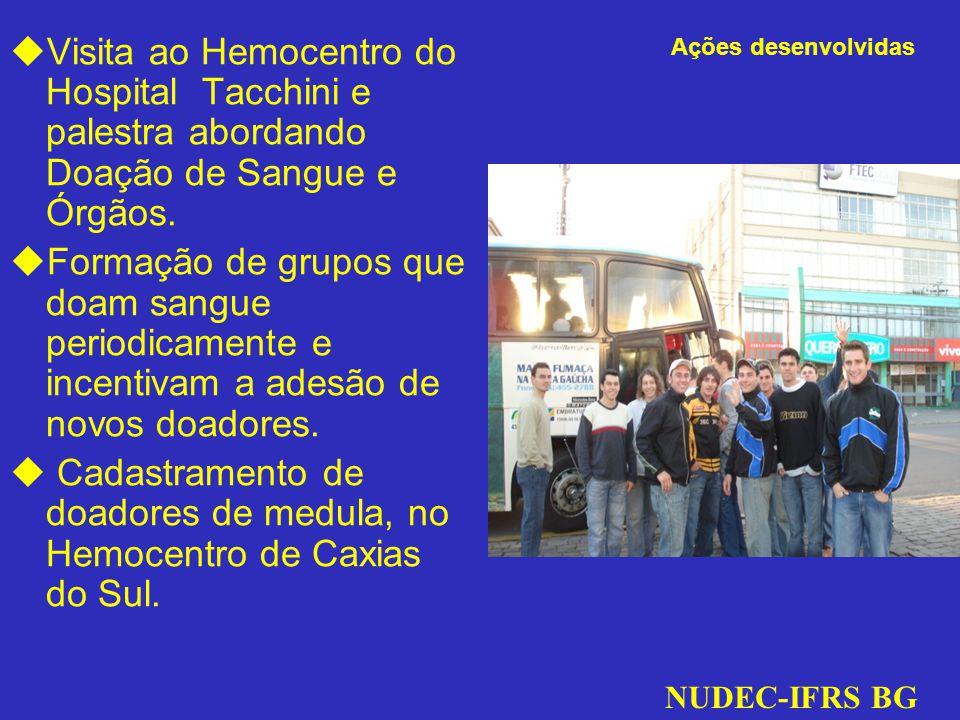 Cadastramento de doadores de medula, no Hemocentro de Caxias do Sul.