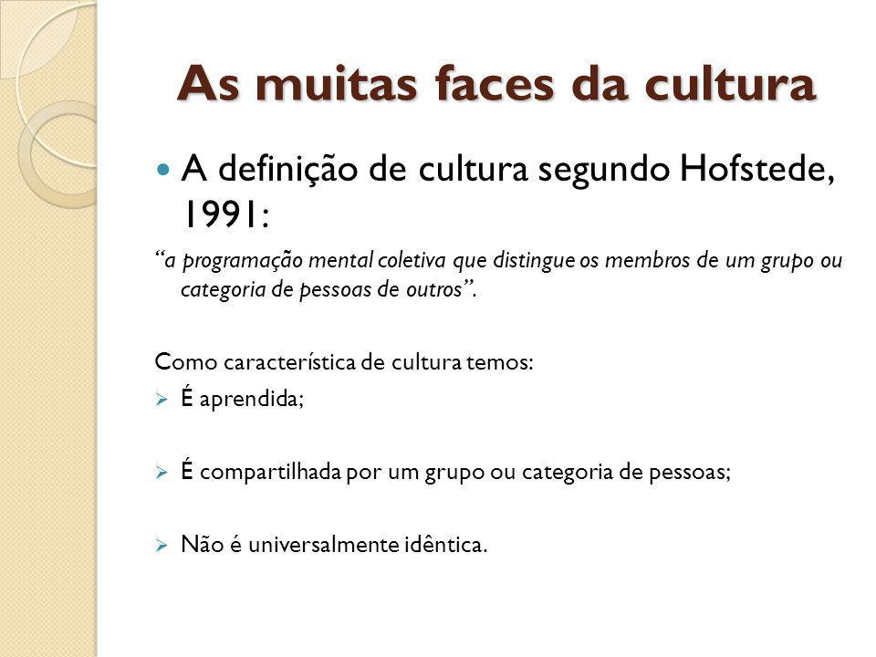 As muitas faces da cultura