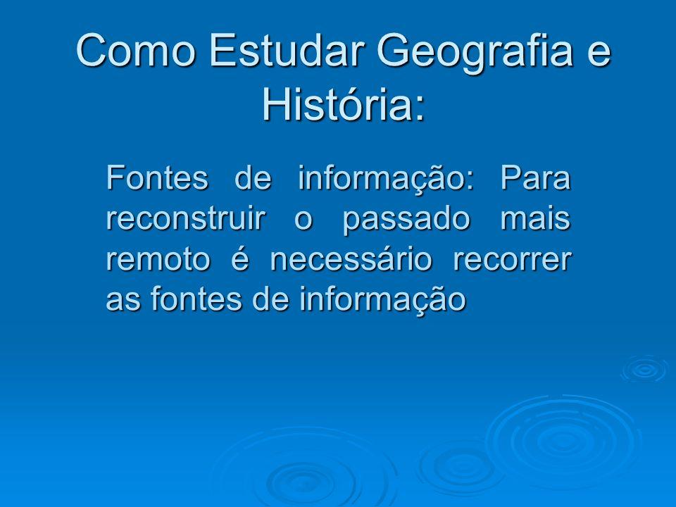 Como Estudar Geografia e História: