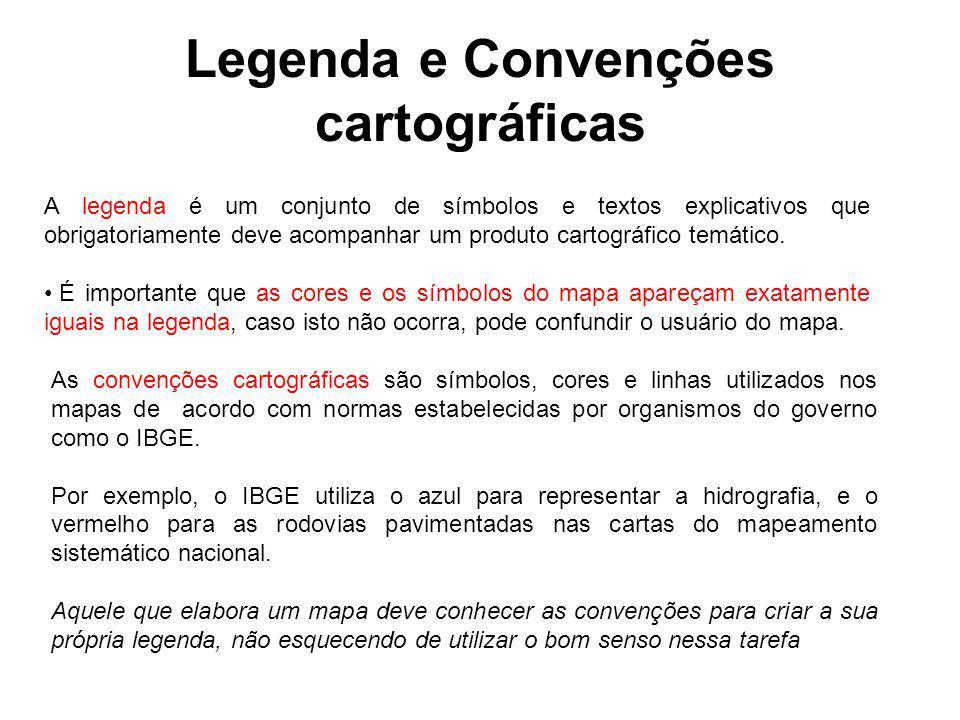 Legenda e Convenções cartográficas
