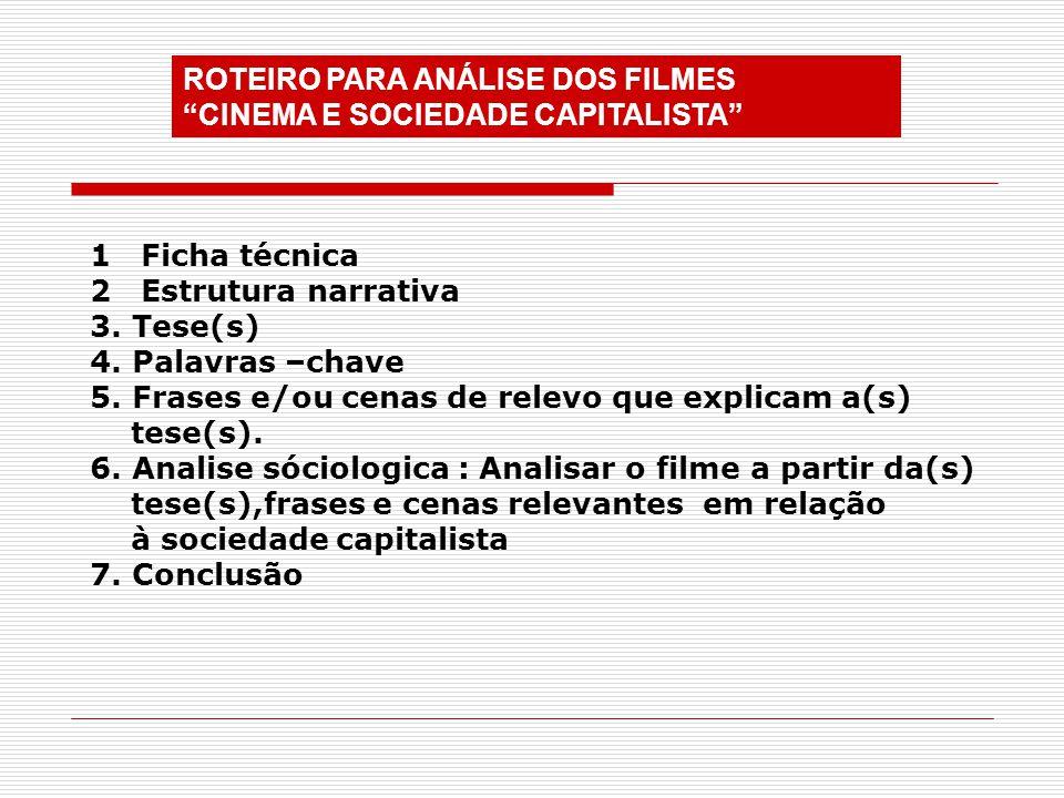 ROTEIRO PARA ANÁLISE DOS FILMES