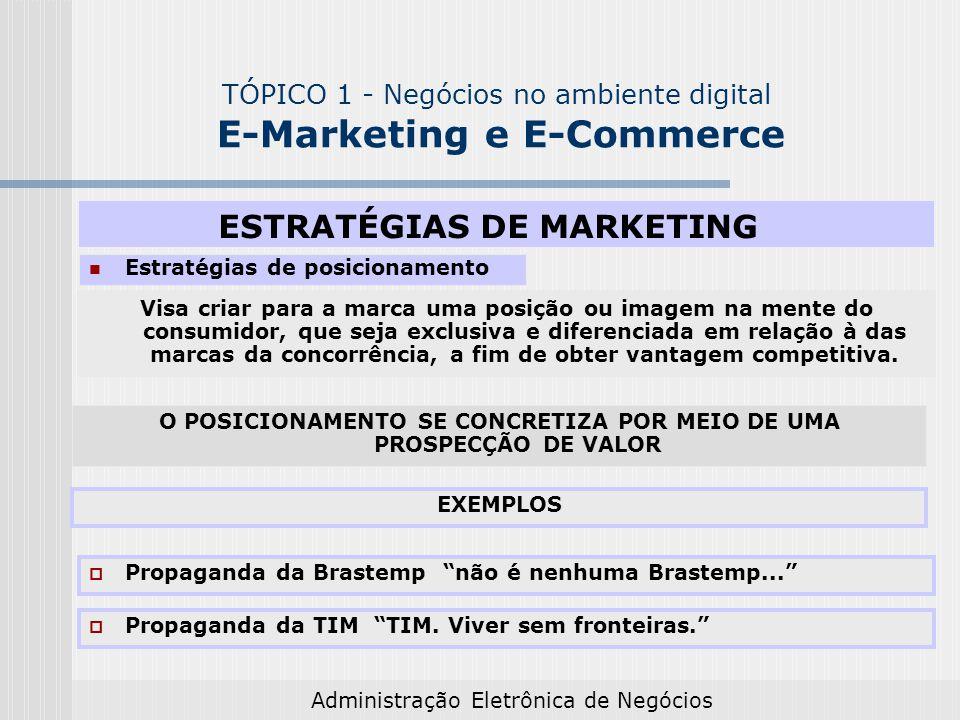 TÓPICO 1 - Negócios no ambiente digital E-Marketing e E-Commerce