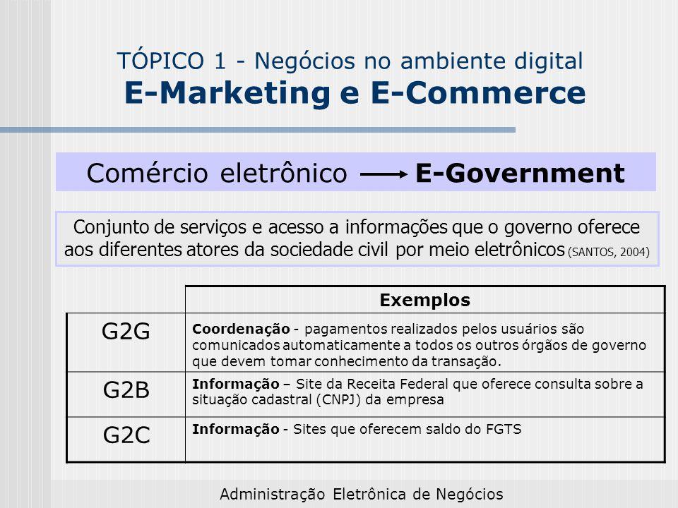 Comércio eletrônico E-Government