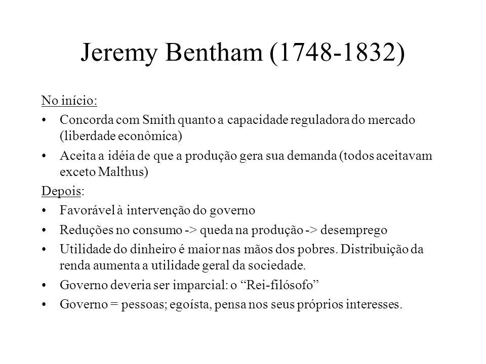 Jeremy Bentham (1748-1832) No início: