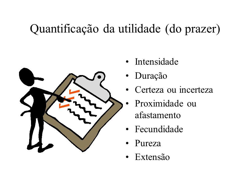 Quantificação da utilidade (do prazer)