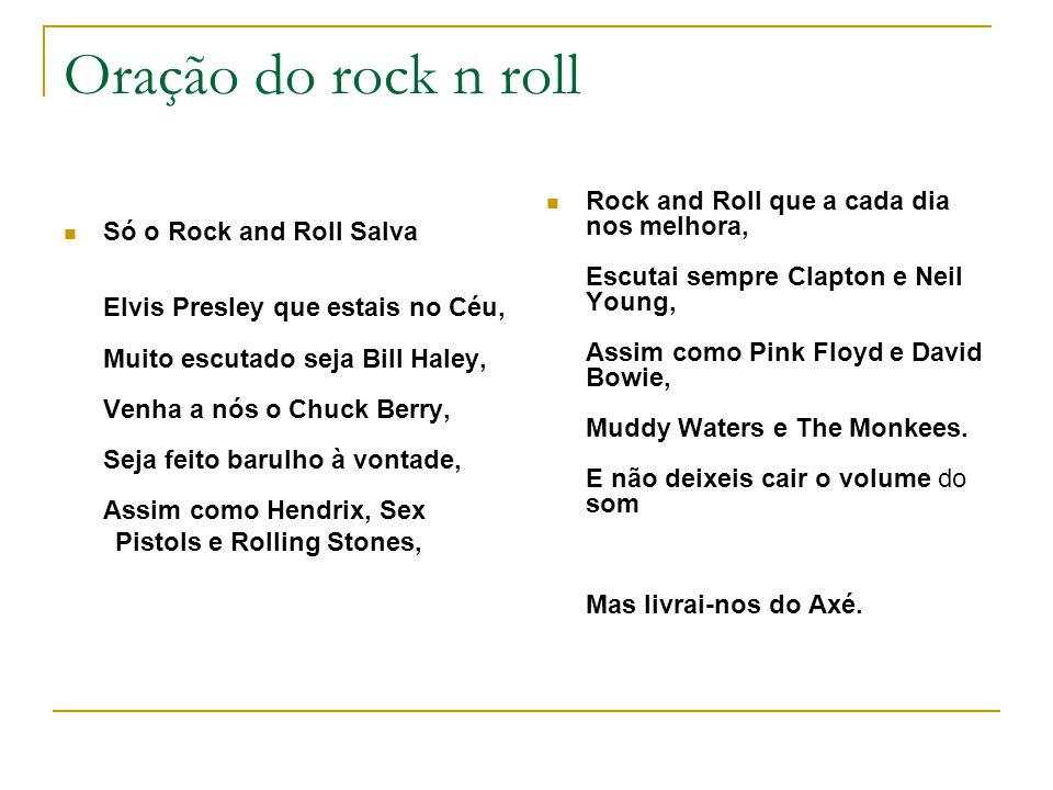 Oração do rock n roll