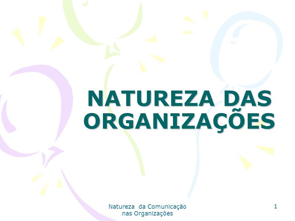 NATUREZA DAS ORGANIZAÇÕES