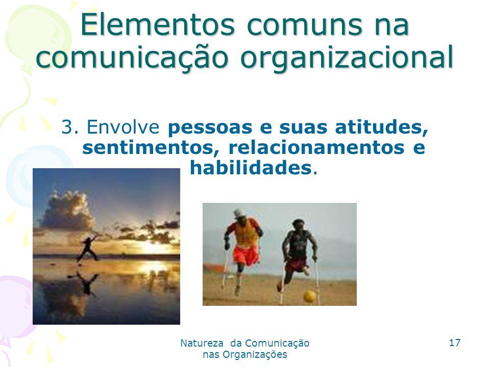 Elementos comuns na comunicação organizacional