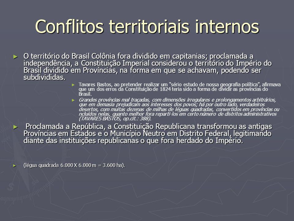 Conflitos territoriais internos