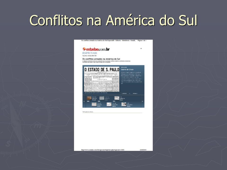 Conflitos na América do Sul