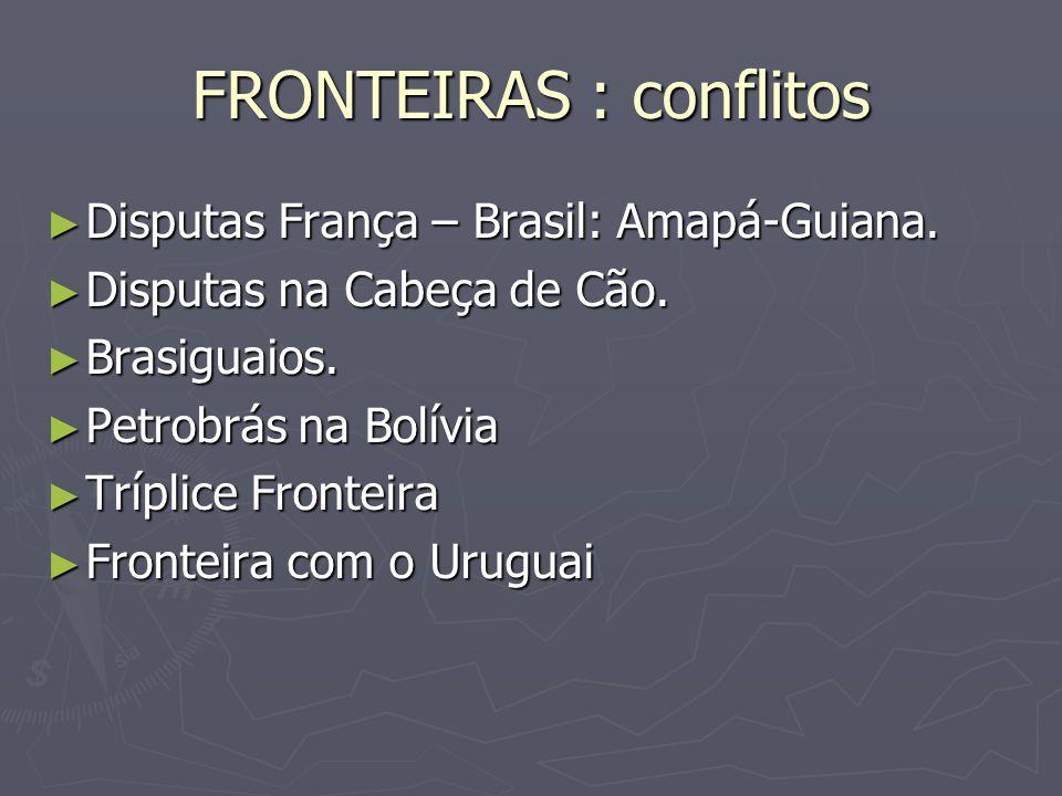 FRONTEIRAS : conflitos