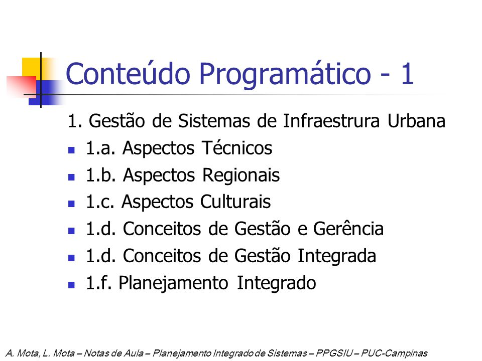 Conteúdo Programático - 1