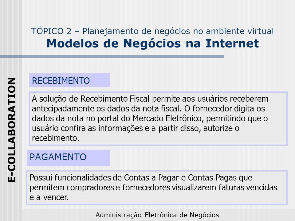 E-COLLABORATION RECEBIMENTO PAGAMENTO
