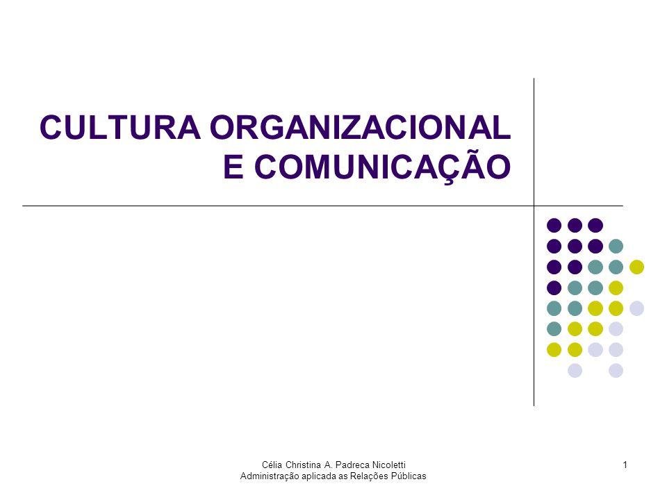 CULTURA ORGANIZACIONAL E COMUNICAÇÃO