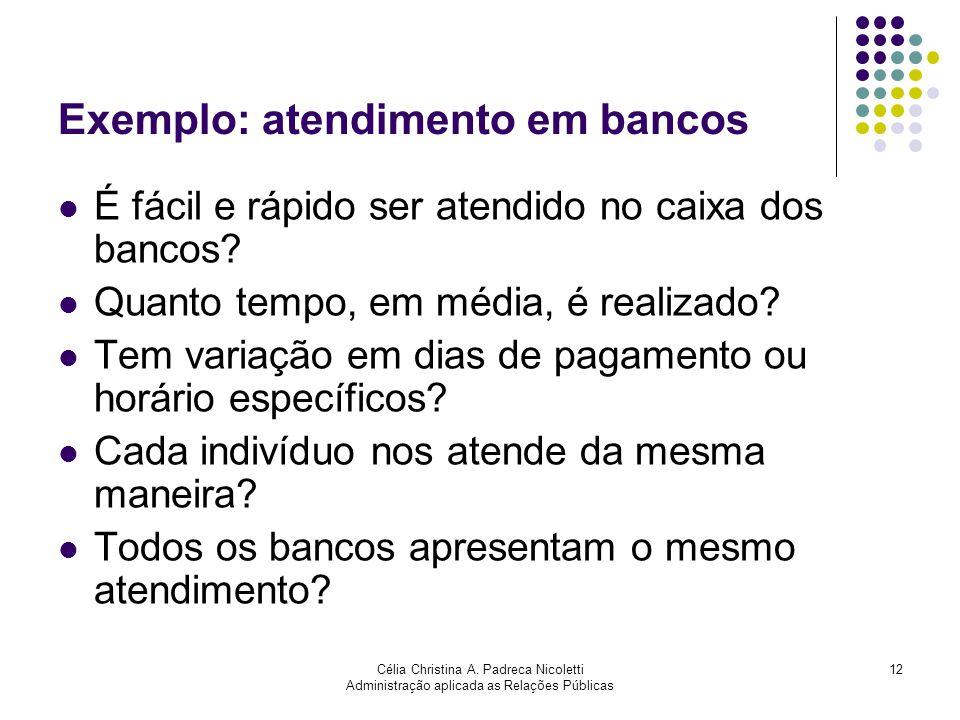 Exemplo: atendimento em bancos