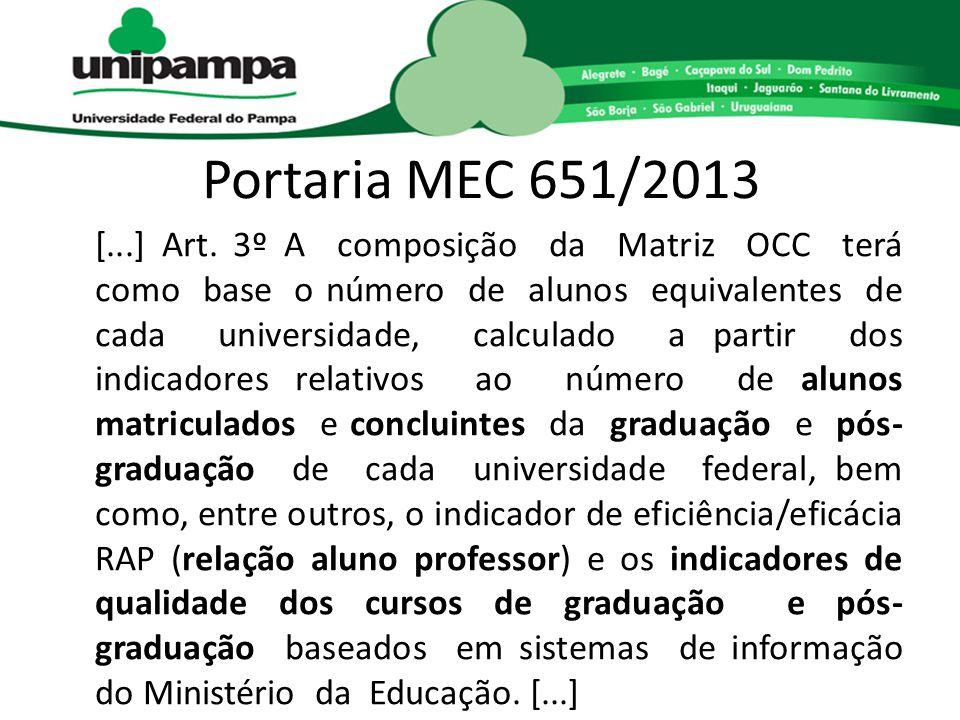 Portaria MEC 651/2013