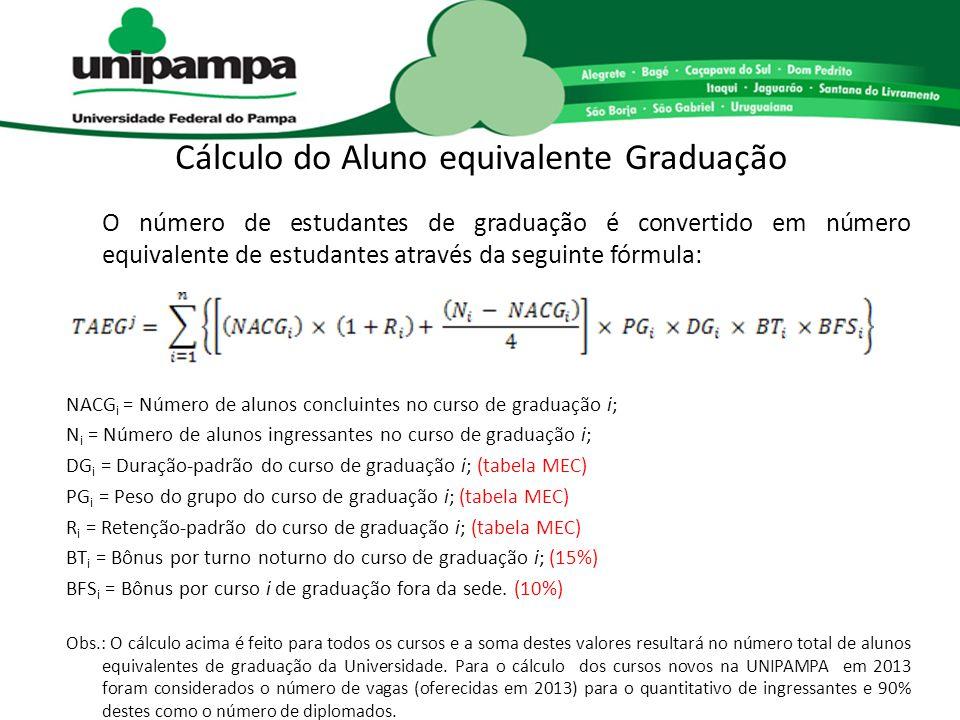 Cálculo do Aluno equivalente Graduação