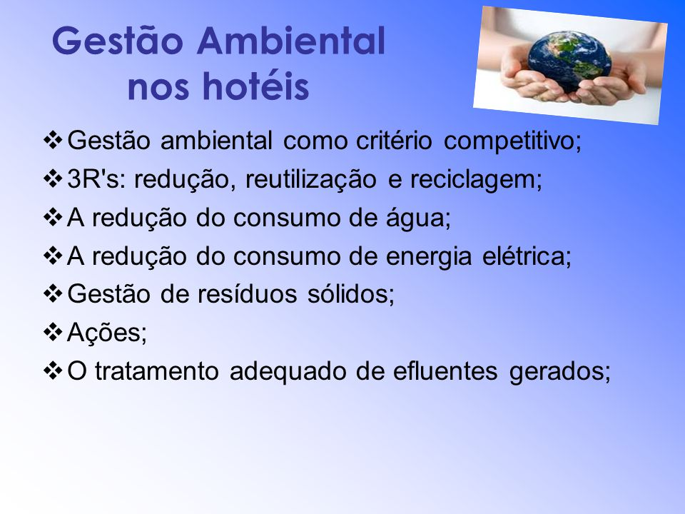 Gestão Ambiental nos hotéis
