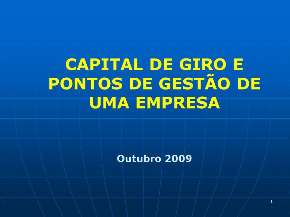 CAPITAL DE GIRO E PONTOS DE GESTÃO DE UMA EMPRESA