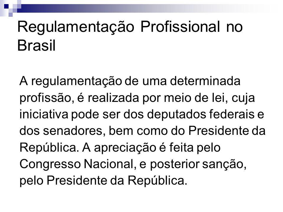 Regulamentação Profissional no Brasil