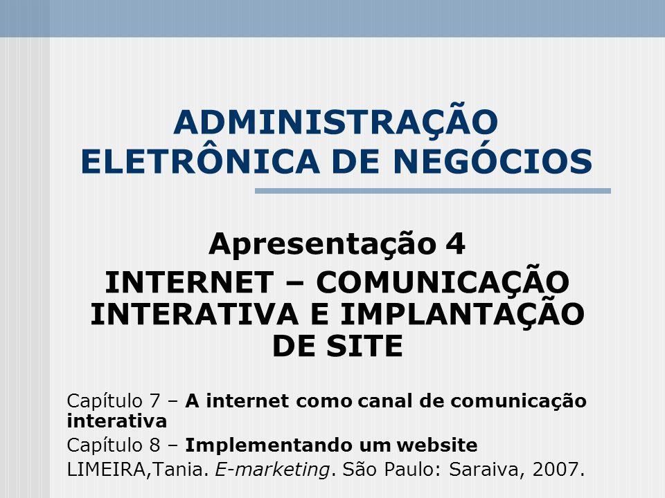 ADMINISTRAÇÃO ELETRÔNICA DE NEGÓCIOS