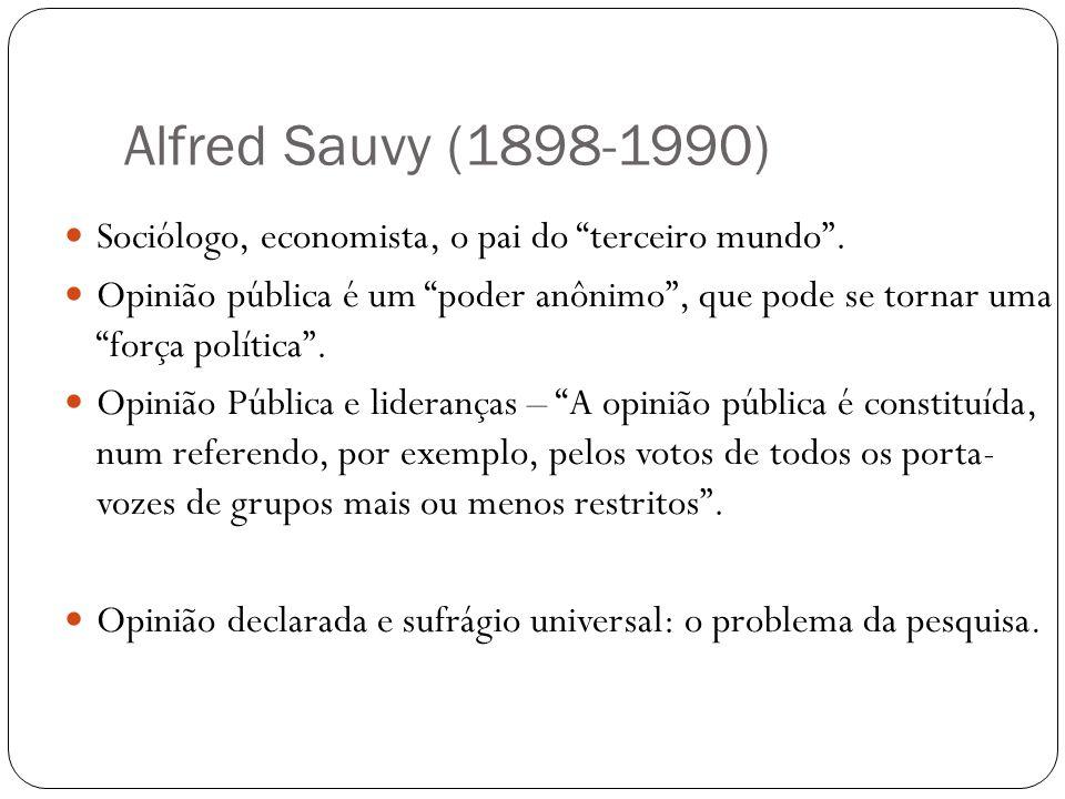Alfred Sauvy (1898-1990) Sociólogo, economista, o pai do terceiro mundo .