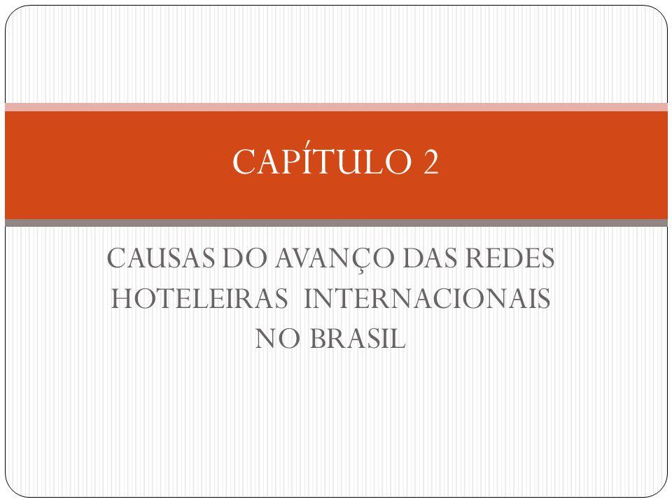 CAUSAS DO AVANÇO DAS REDES HOTELEIRAS INTERNACIONAIS NO BRASIL