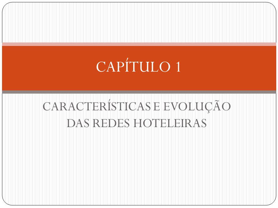 CARACTERÍSTICAS E EVOLUÇÃO DAS REDES HOTELEIRAS