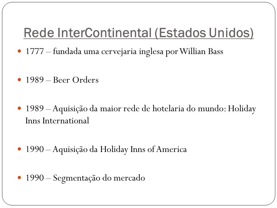 Rede InterContinental (Estados Unidos)