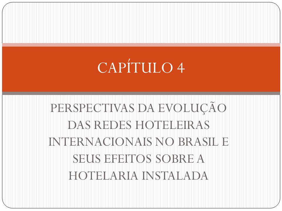 CAPÍTULO 4 PERSPECTIVAS DA EVOLUÇÃO DAS REDES HOTELEIRAS INTERNACIONAIS NO BRASIL E SEUS EFEITOS SOBRE A HOTELARIA INSTALADA.