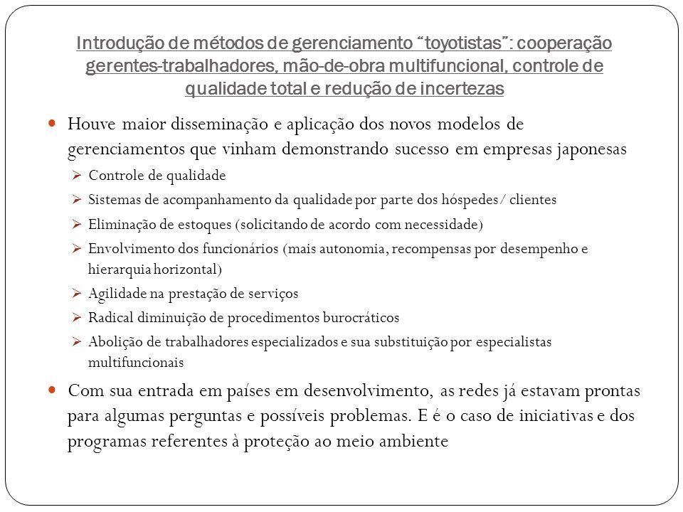 Introdução de métodos de gerenciamento toyotistas : cooperação gerentes-trabalhadores, mão-de-obra multifuncional, controle de qualidade total e redução de incertezas