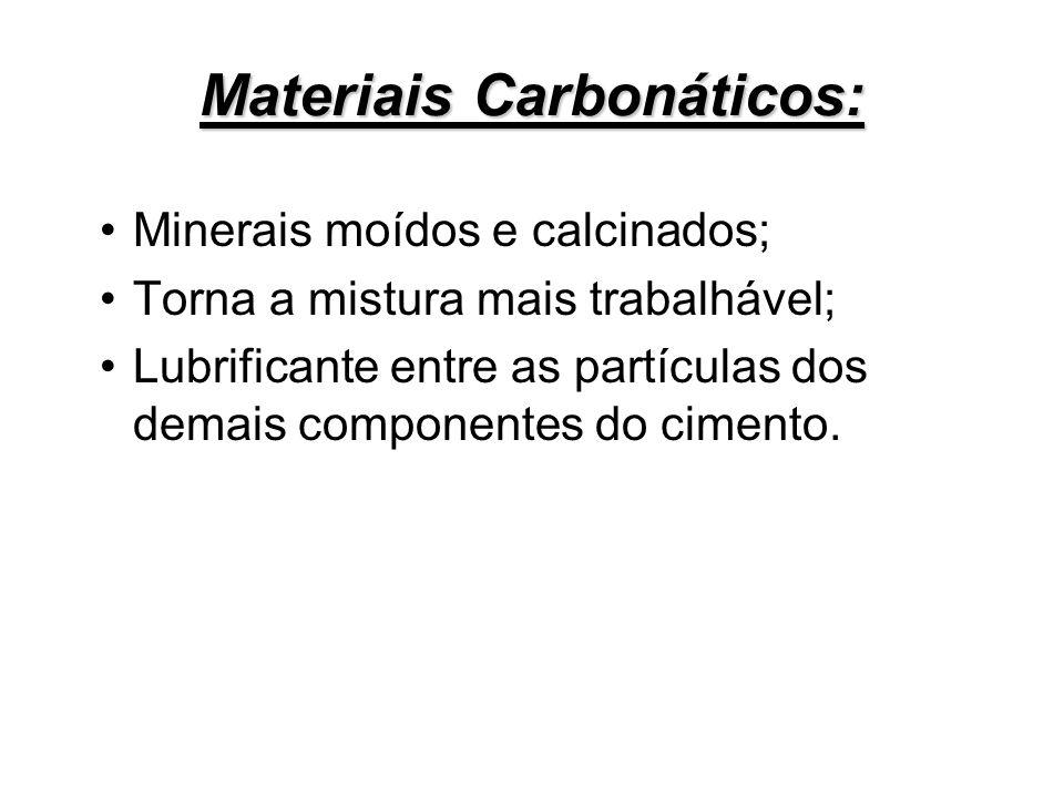 Materiais Carbonáticos: