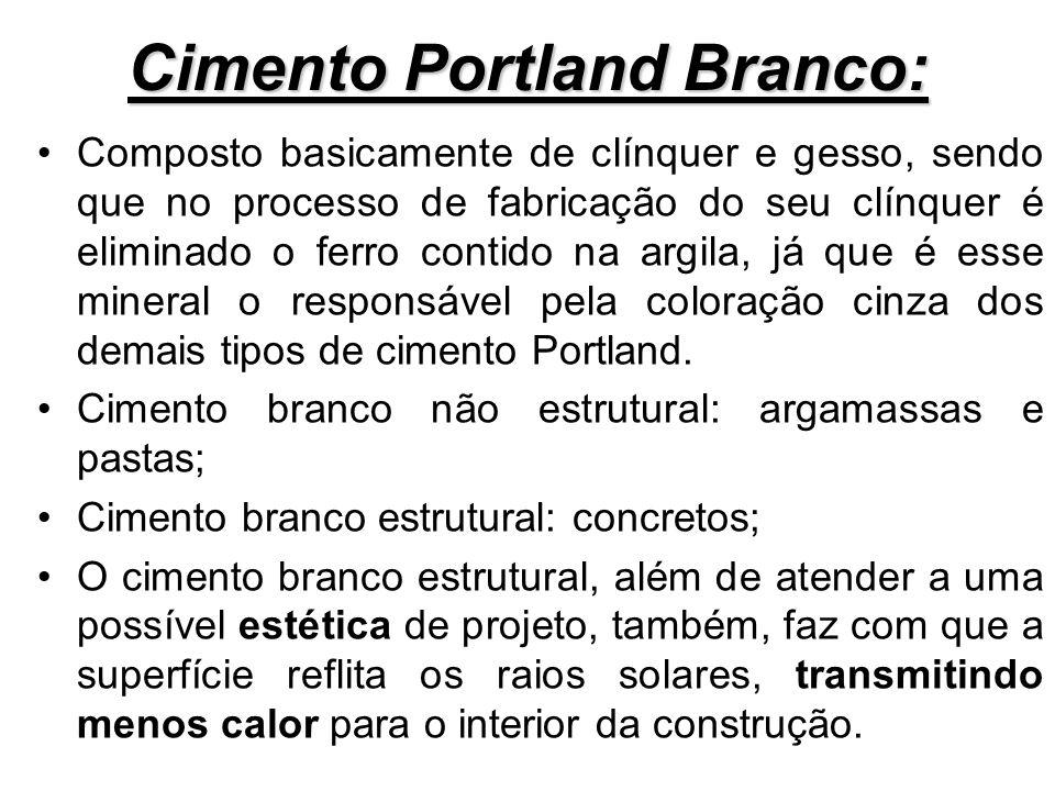 Cimento Portland Branco: