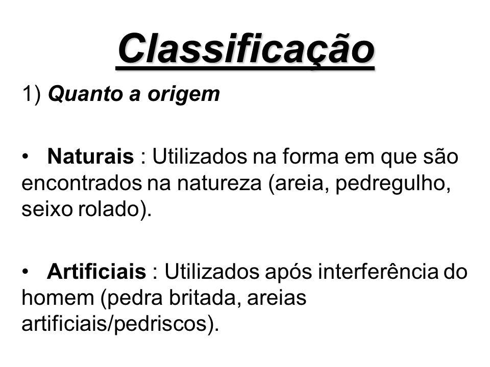 Classificação 1) Quanto a origem