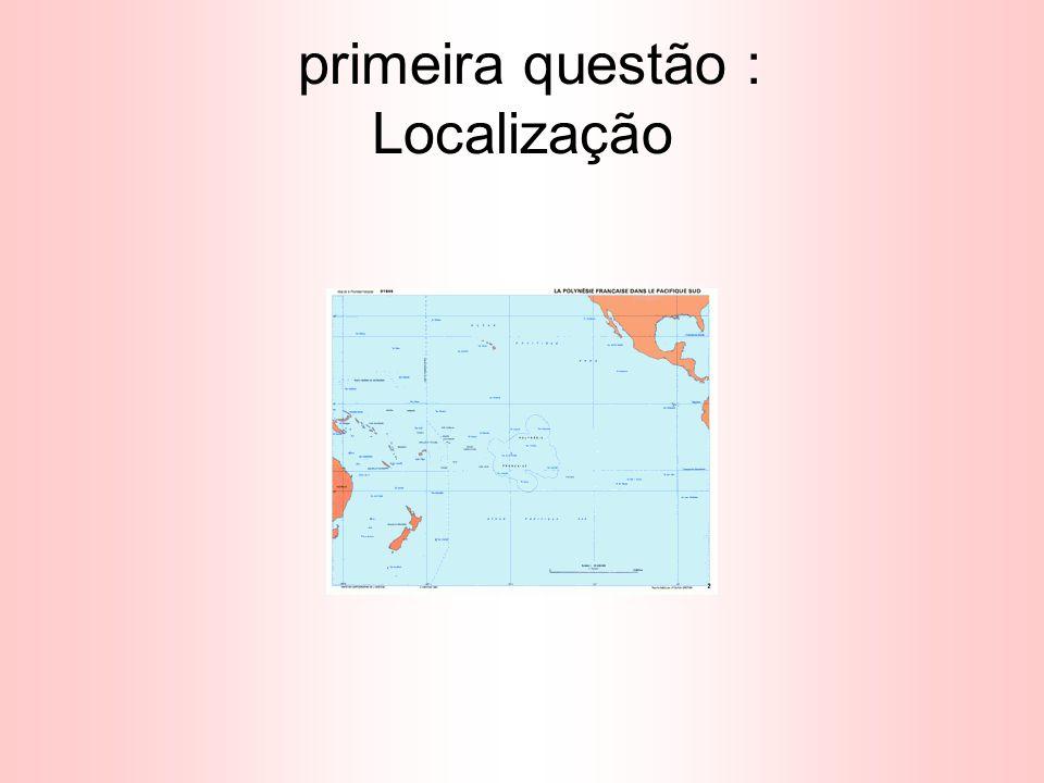primeira questão : Localização
