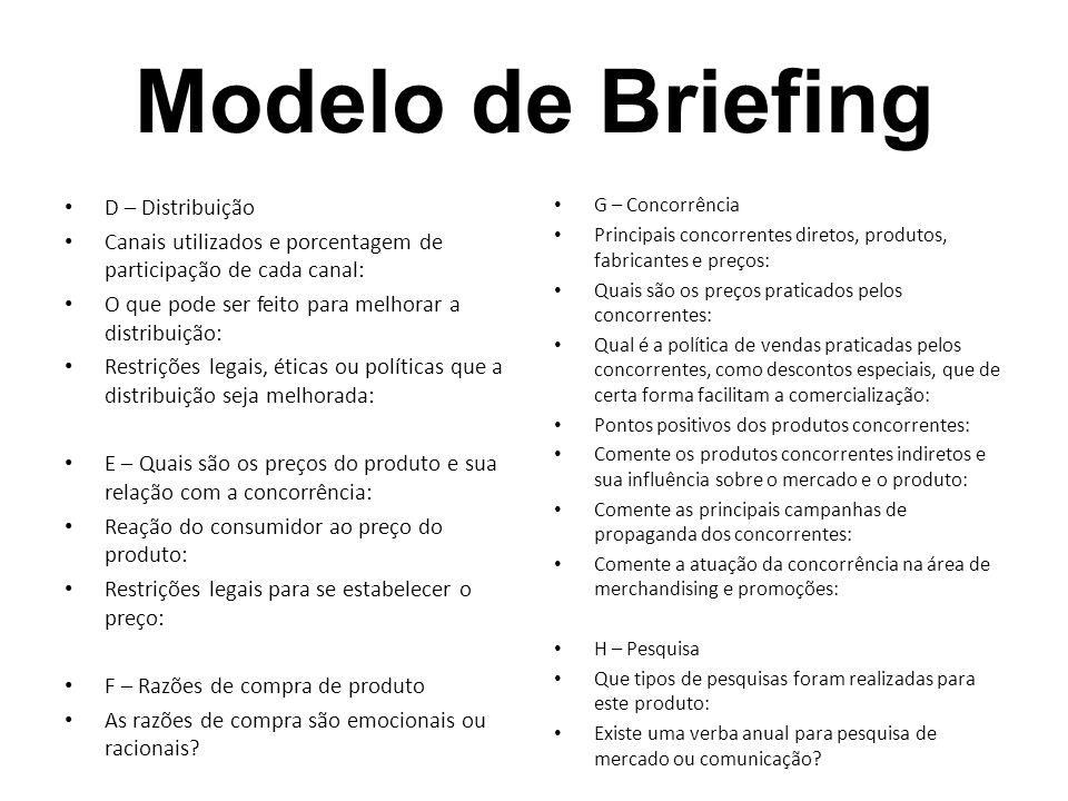 Modelo de Briefing D – Distribuição