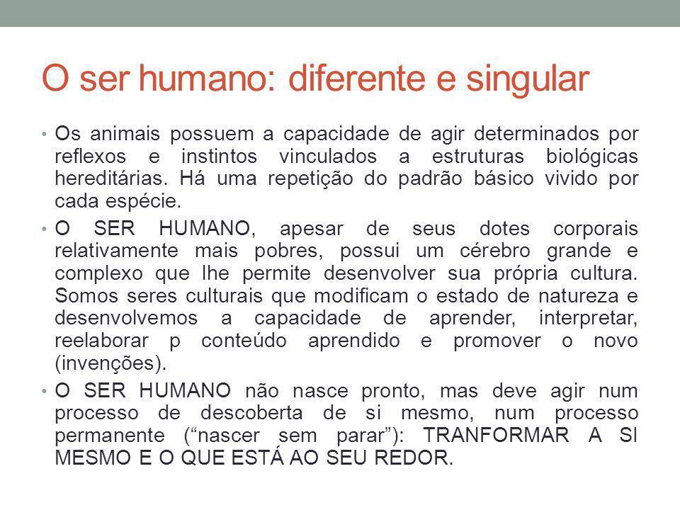 O ser humano: diferente e singular