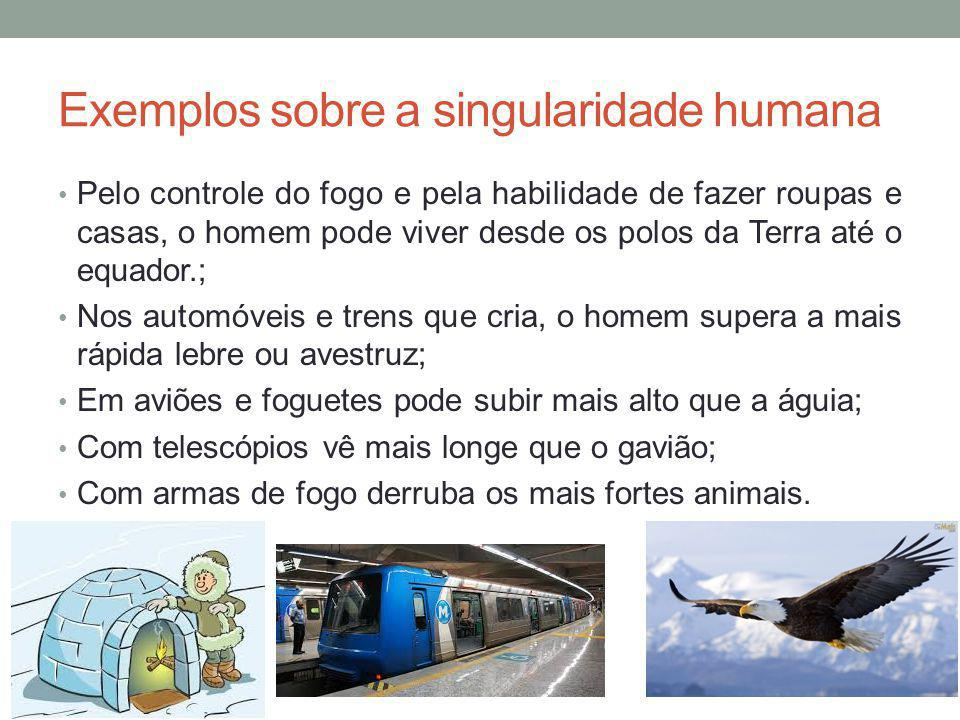 Exemplos sobre a singularidade humana