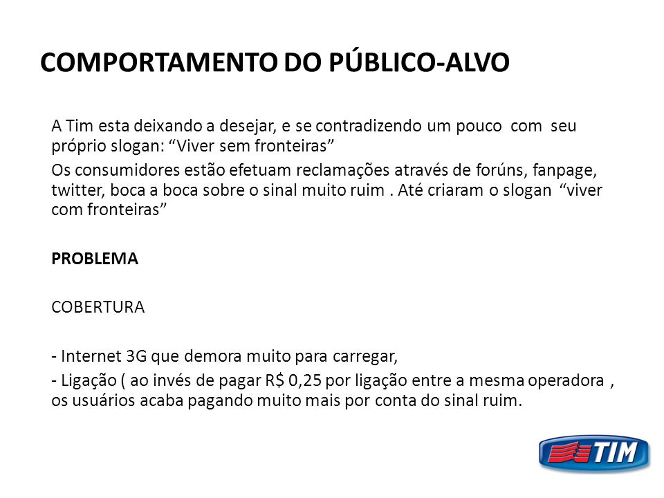 COMPORTAMENTO DO PÚBLICO-ALVO