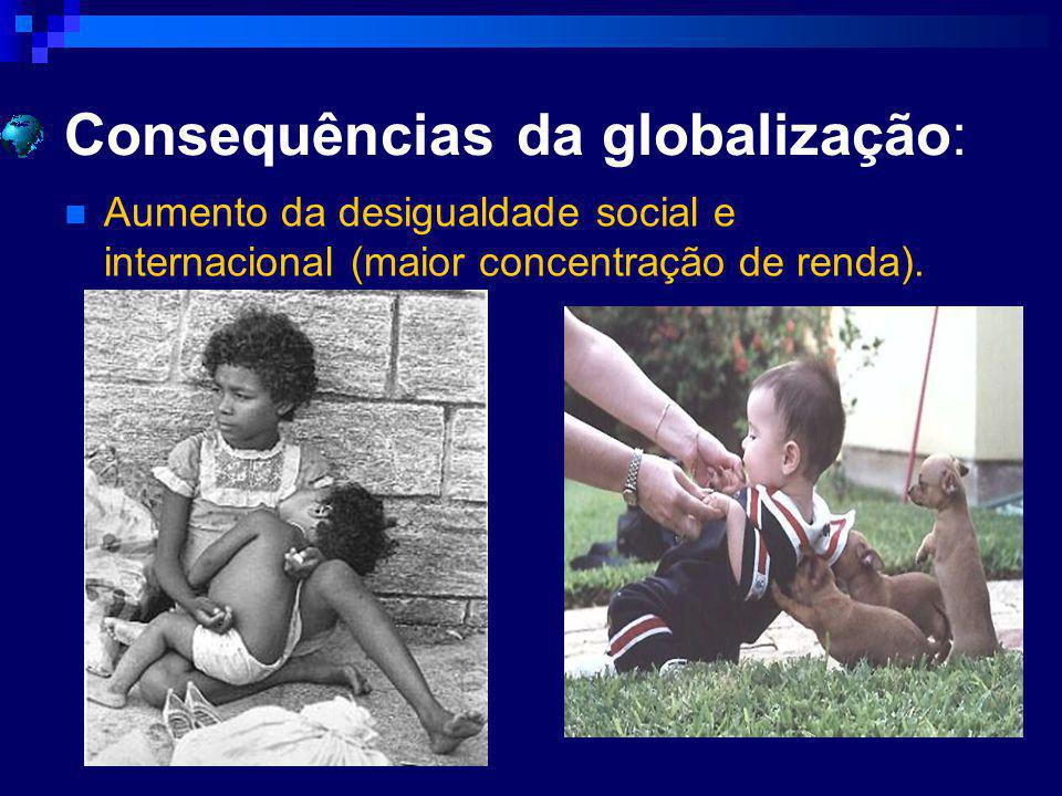Consequências da globalização: