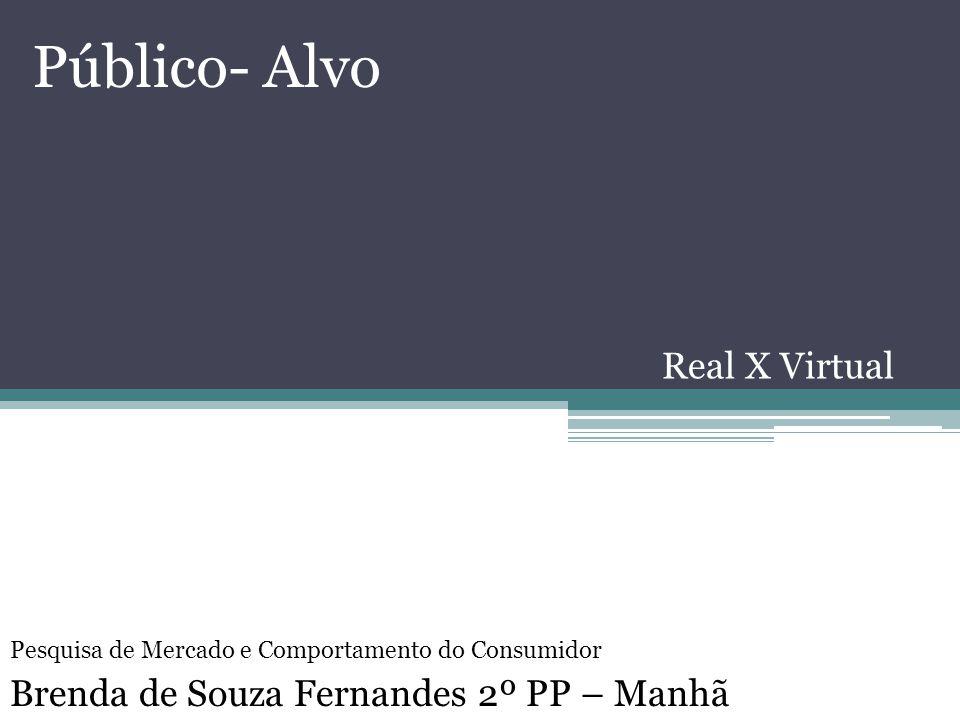 Público- Alvo Real X Virtual Brenda de Souza Fernandes 2º PP – Manhã