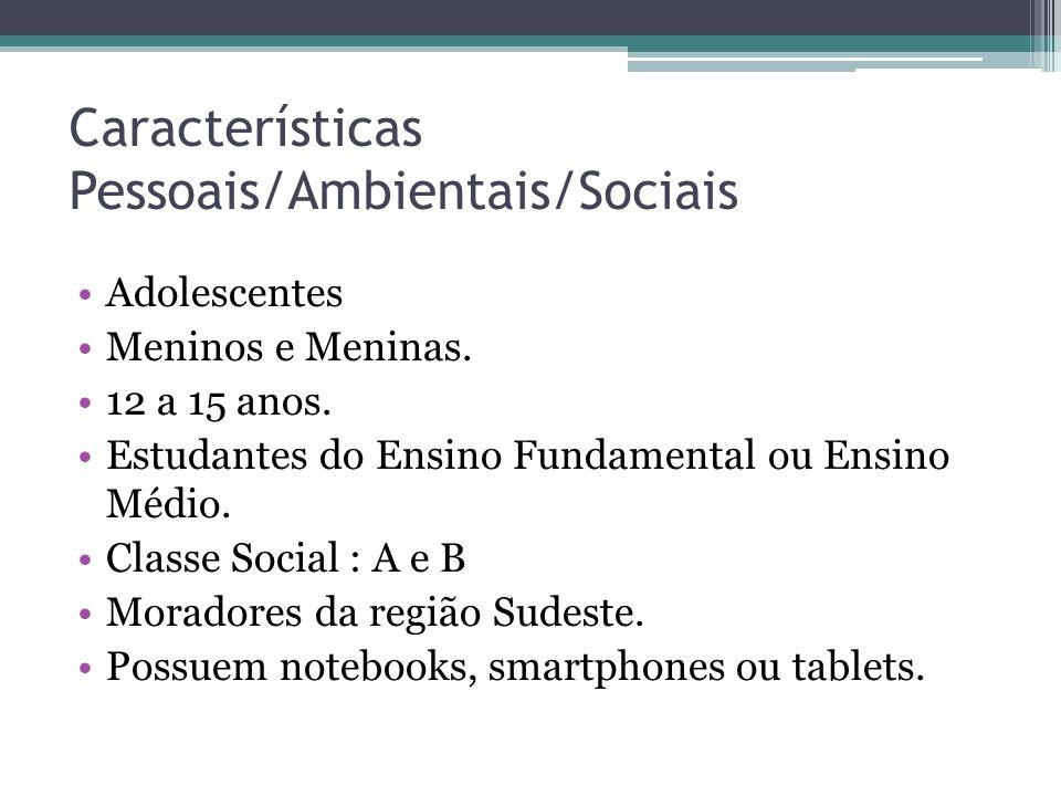 Características Pessoais/Ambientais/Sociais