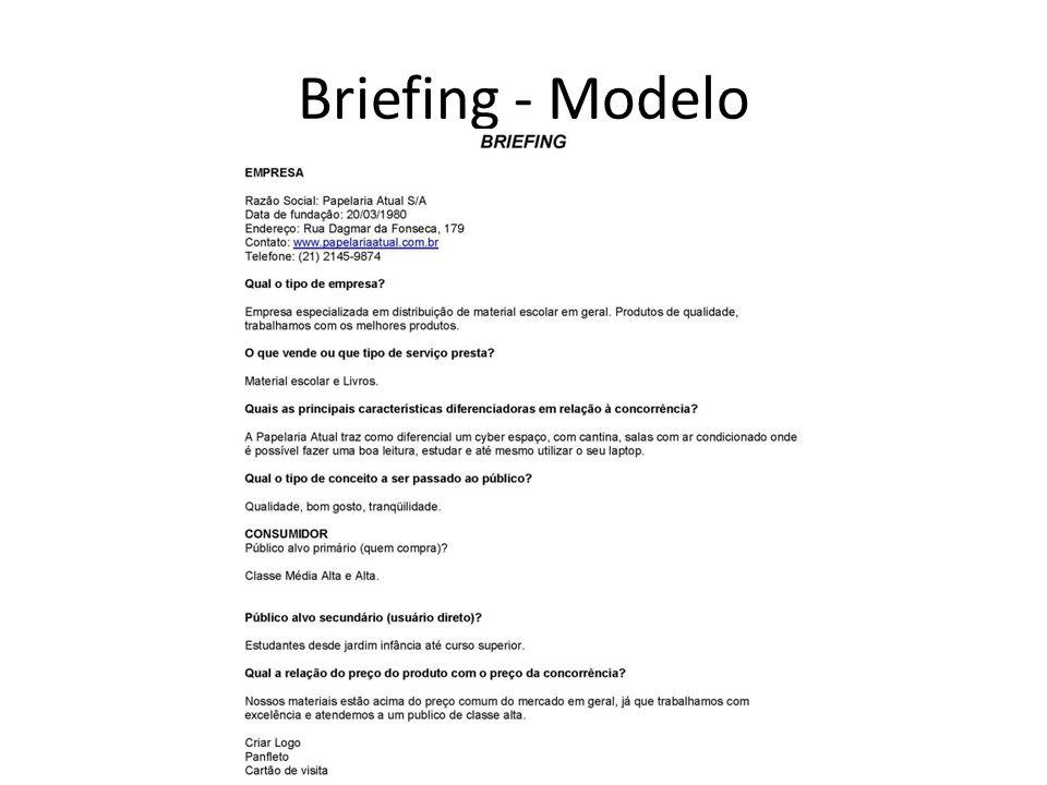 Briefing - Modelo