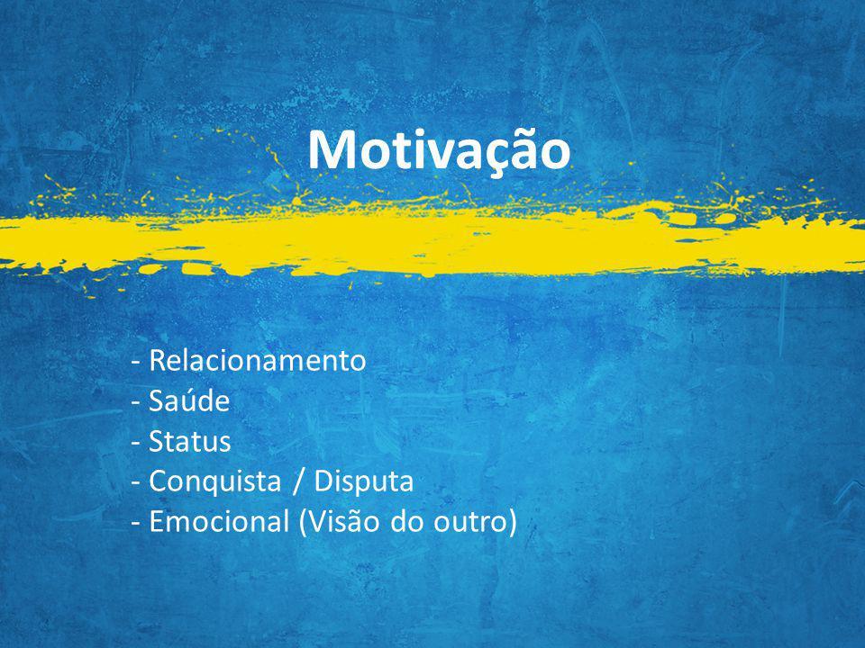 Motivação - Relacionamento - Saúde - Status - Conquista / Disputa