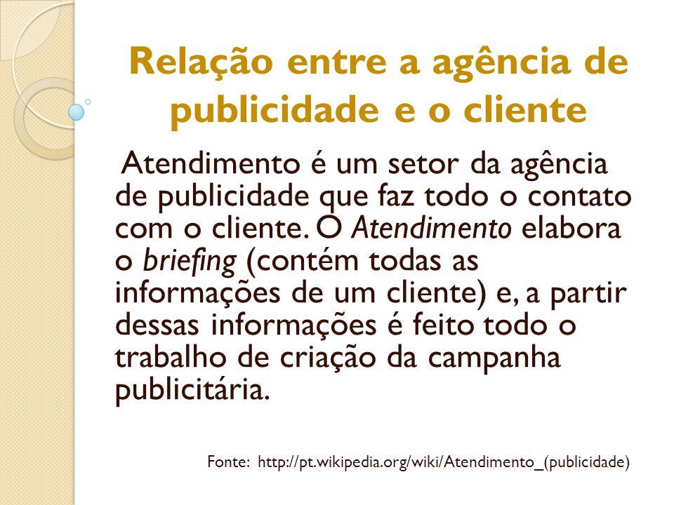 Relação entre a agência de publicidade e o cliente